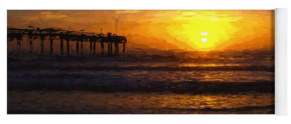 Saint Augustine Beach Sunrise Yoga Mat