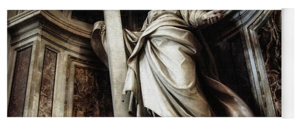 Saint Helena Statue Inside Saint Peter S Basilica Rome Italy Yoga Mat