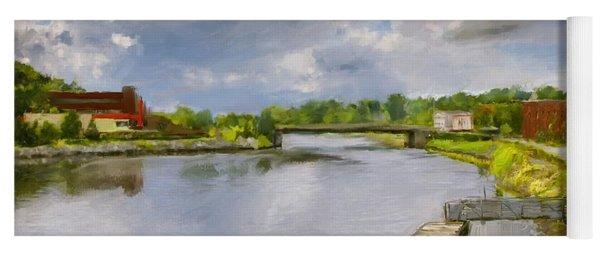 Saint John River Painting Yoga Mat