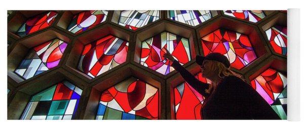 Saint John's University Abbey Amazing Stained Glass Yoga Mat