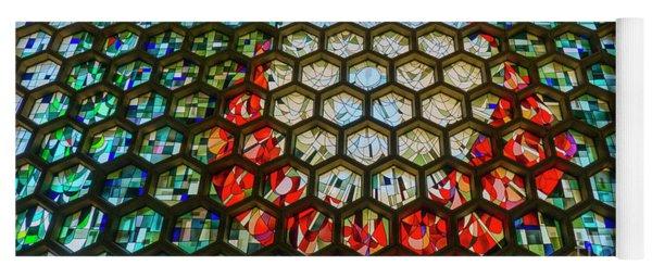 Saint John's University Abbey Stained Glass Magic Yoga Mat