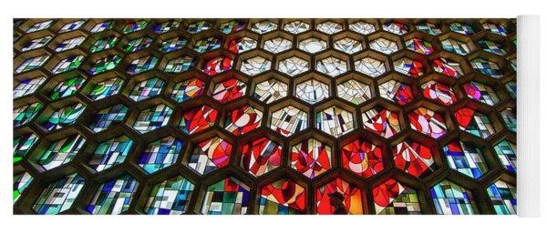 Saint John's University Abbey Stained Glass Window Yoga Mat