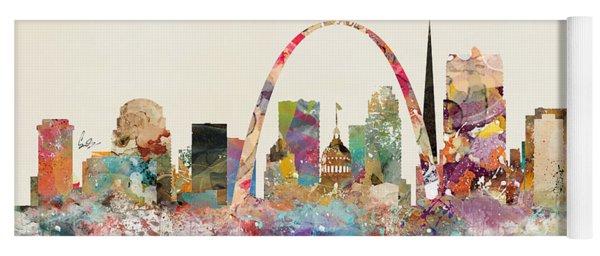 Saint Louis Missouri Skyline Yoga Mat