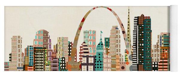 Saint Louis Skyline Yoga Mat