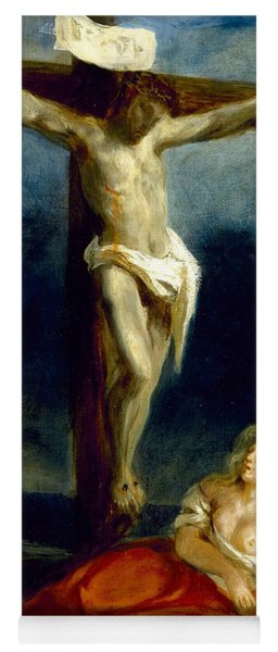 Saint Mary Magdalene At The Foot Of The Cross Yoga Mat