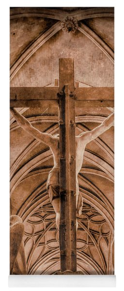 Paris, France - Saint Merri's Cross II Yoga Mat