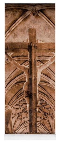Paris, France - Saint Merri's Cross II Yoga Mat