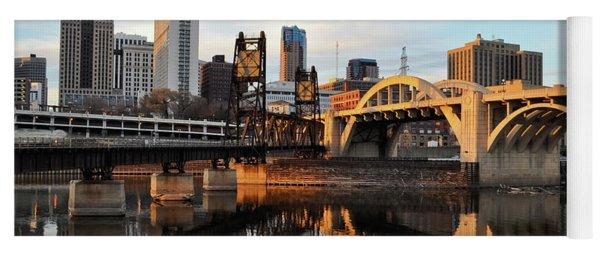 Saint Paul Mississippi River Sunset Yoga Mat