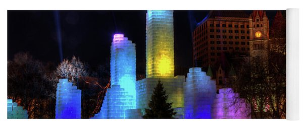 Saint Paul Winter Carnival Ice Palace 2018 Lighting Up The Town Yoga Mat