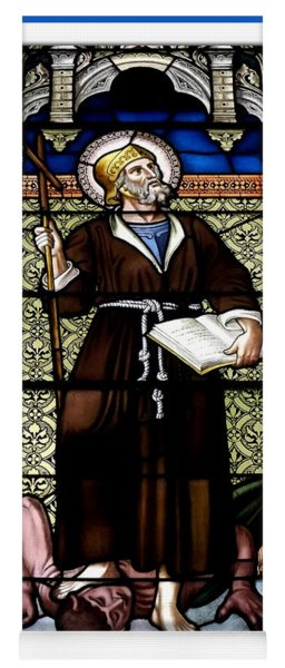 Saint William Of Aquitaine Stained Glass Window Yoga Mat