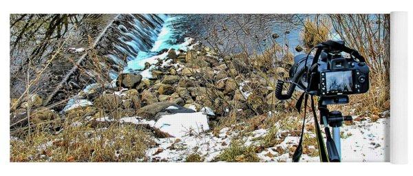 Saline River Winter Landscape Yoga Mat