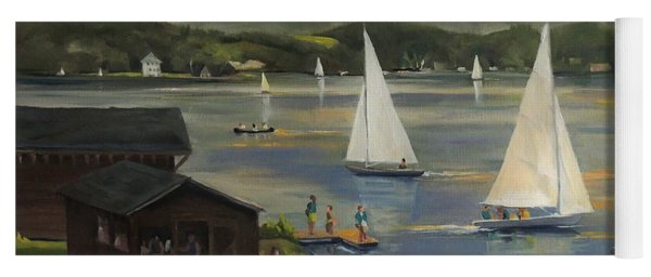 Sailing At Lake Morey Vermont Yoga Mat