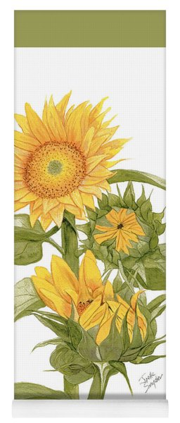 Sally's Sunflowers Yoga Mat