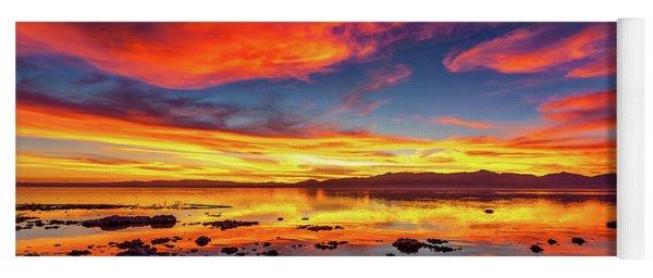 Salton Sea Sunset Yoga Mat