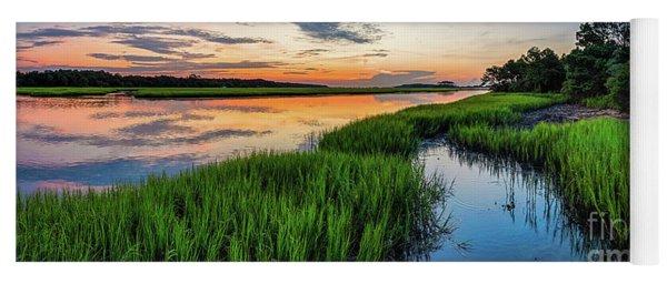 Saltwater Marsh Summer Sunrise Yoga Mat