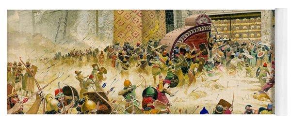 Samaria Falling To The Assyrians Yoga Mat