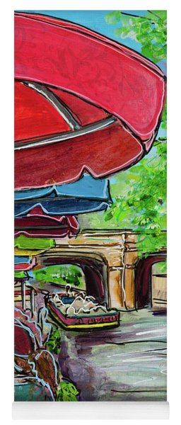 Yoga Mat featuring the painting San Antonio River Walk Cafe by TM Gand