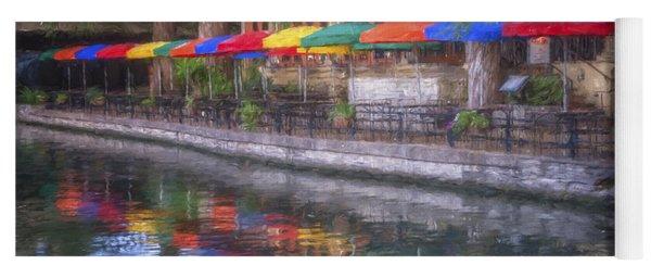 San Antonio Riverwalk Colors Yoga Mat