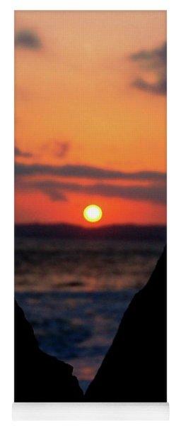 San Clemente Beach Rock View Sunset Portrait Yoga Mat