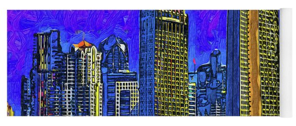 San Diego In Abstract Yoga Mat