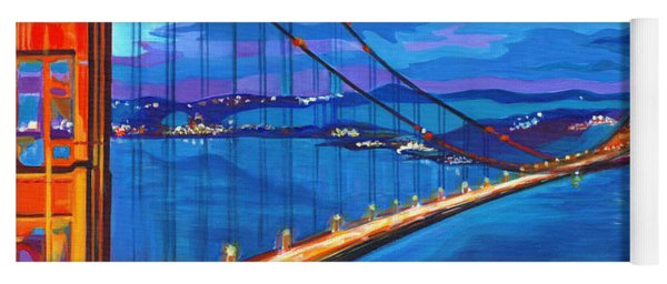 San Francisco Bay Blues  Yoga Mat