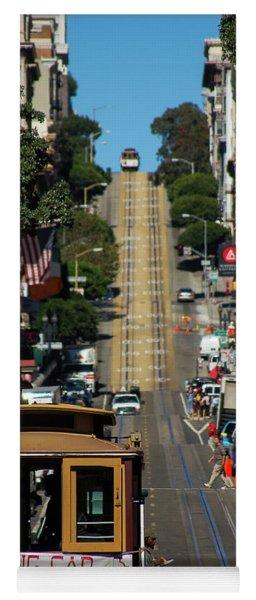 San Francisco Cable Cars Yoga Mat