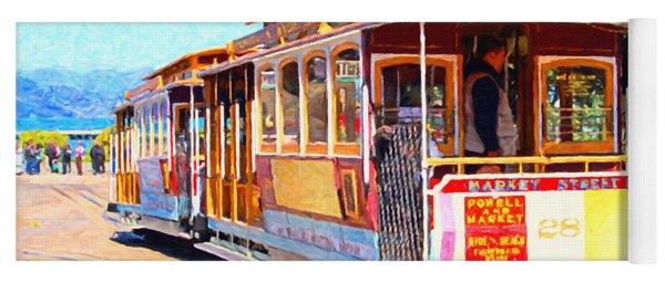 San Francisco Cablecar At Fishermans Wharf . 7d14097 Yoga Mat