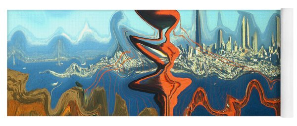 San Francisco Earthquake - Modern Artwork Yoga Mat