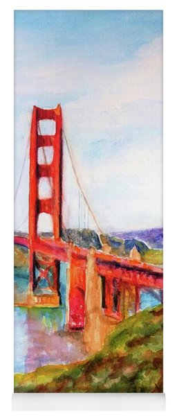 San Francisco Golden Gate Bridge Impressionism Yoga Mat