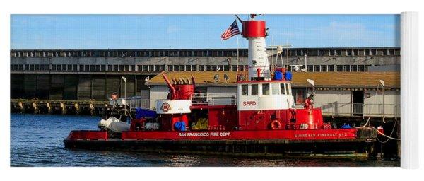 San Francisco Guardian Fireboat No 2 Yoga Mat