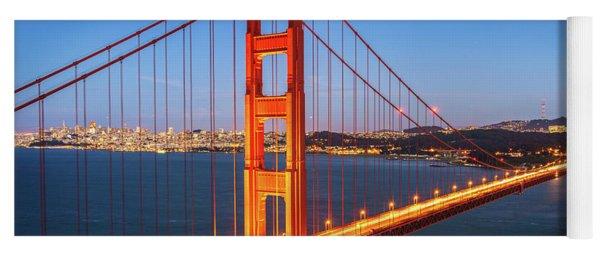 San Francisco Through The Golden Gate Bridge At Dusk Yoga Mat