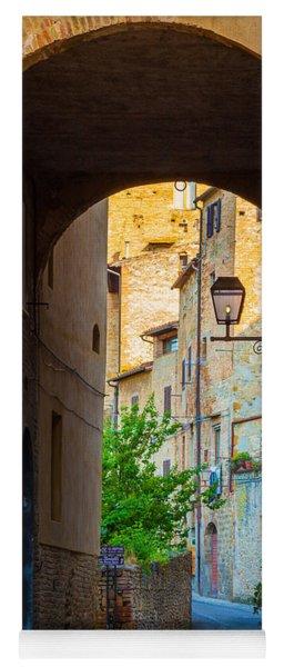 San Gimignano Archway Yoga Mat