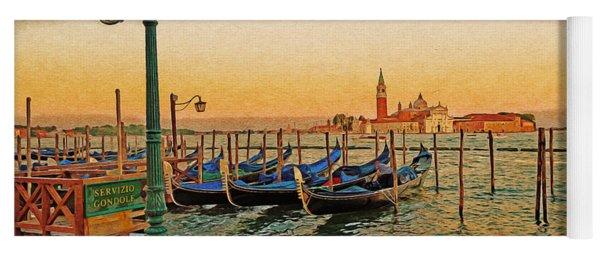 San Giorgio Maggiore Venice Gondolas Yoga Mat