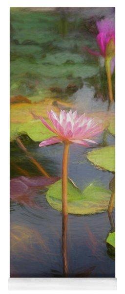 San Juan Capistrano Water Lilies Yoga Mat