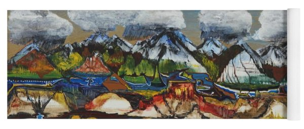 Yoga Mat featuring the painting San Juan Valley by Richard Van Vliet