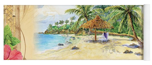 Sand Sea Sunshine On Tropical Beach Shores Yoga Mat