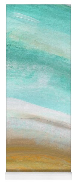 Sand And Saltwater- Abstract Art By Linda Woods Yoga Mat