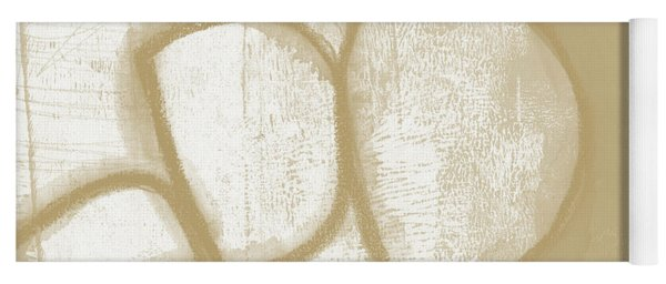 Sand And Stone 1- Contemporary Abstract Art By Linda Woods Yoga Mat