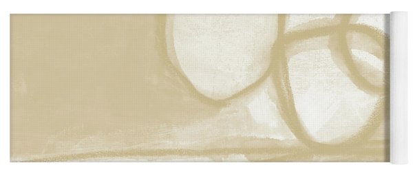 Sand And Stone 6- Contemporary Abstract Art By Linda Woods Yoga Mat