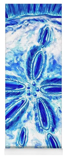 Yoga Mat featuring the painting Sand Dollar by Monique Faella