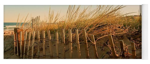 Sand Dune In Late September - Jersey Shore Yoga Mat