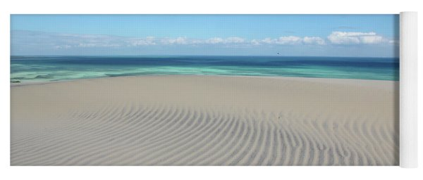 Sand Dune Ripples And The Ocean Beyond Yoga Mat