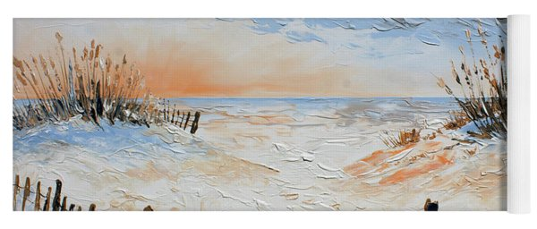 Yoga Mat featuring the painting Sand Fences by William Love