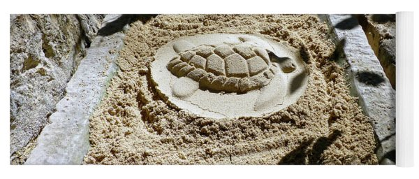 Yoga Mat featuring the photograph Sand Turtle Print by Francesca Mackenney