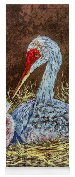 Sandhill Cranes In Nest Yoga Mat