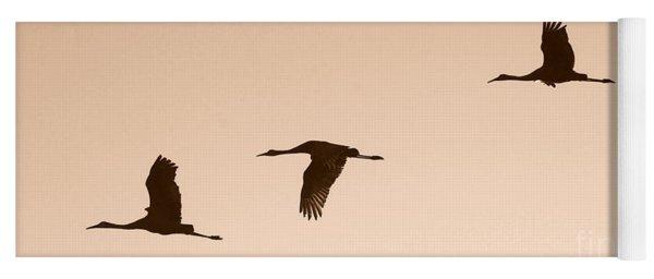 Sandhills In Flight In Sepia Yoga Mat