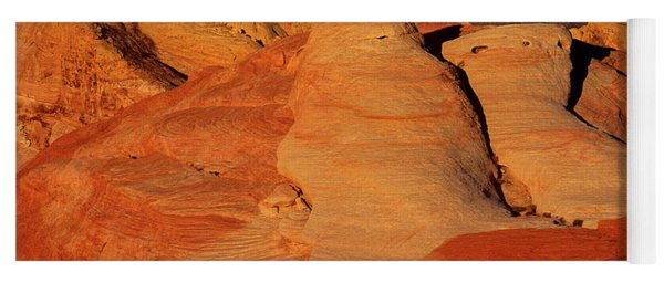 Sandstone Formations In Valley Of Fire State Park Nevada Yoga Mat