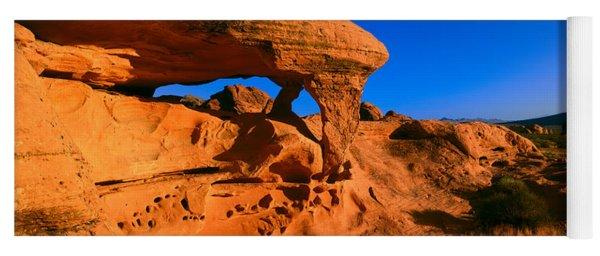 Sandstone Rock Formation At Sunrise Yoga Mat