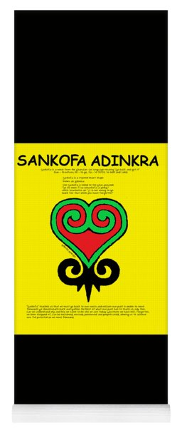 Sankofa Adinkra Yoga Mat