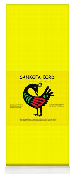 Sankofa Bird Of Knowledge Yoga Mat